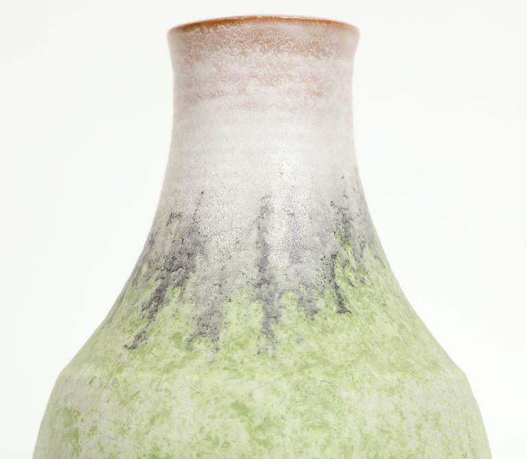 Italian Marcello Fantoni Ceramic Vase, Glazed Stoneware, circa 1970s For Sale