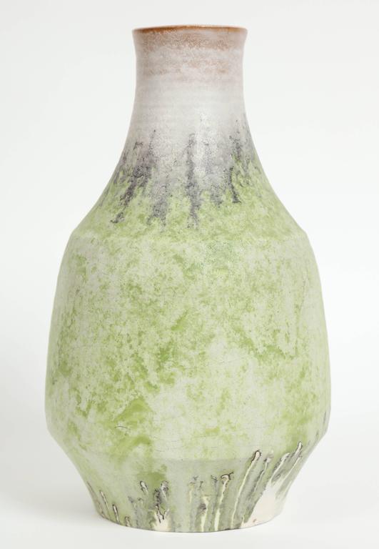 Marcello Fantoni Ceramic Vase, Glazed Stoneware, circa 1970s In Excellent Condition For Sale In New York, NY