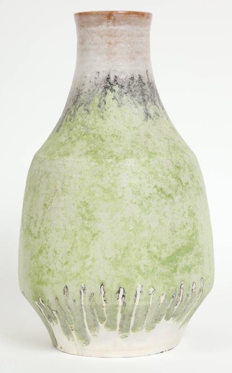 20th Century Marcello Fantoni Ceramic Vase, Glazed Stoneware, circa 1970s For Sale