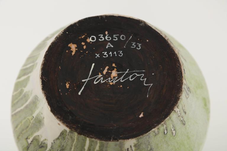 Marcello Fantoni Ceramic Vase, Glazed Stoneware, circa 1970s For Sale 3