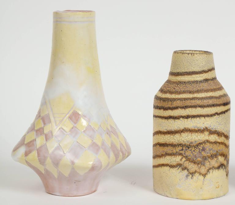 Italian Marcello Fantoni Small Ceramic Vases, circa 1960s - 1970s For Sale