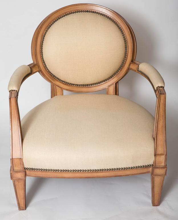 French Provincial Pair Of Brunschwig And Fils Upholstered Chairs For