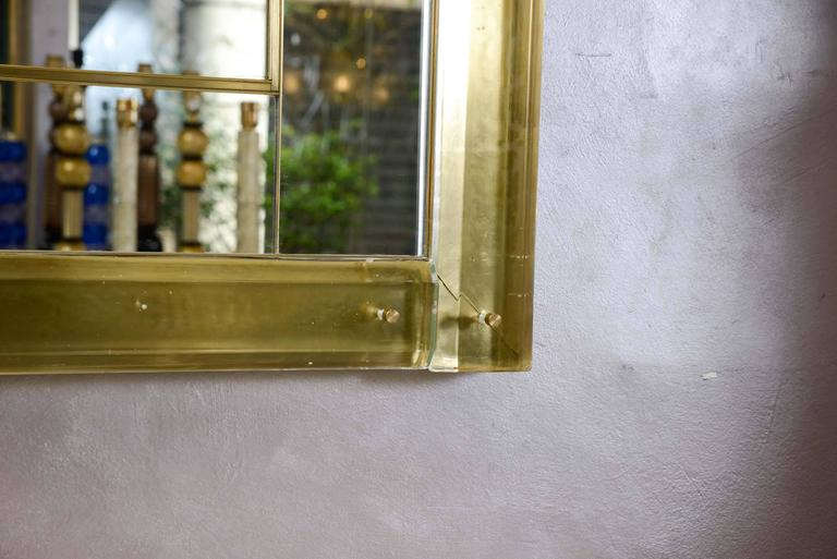 Mirror surrounded with Murano glass. In Excellent Condition In Saint ouen, FR