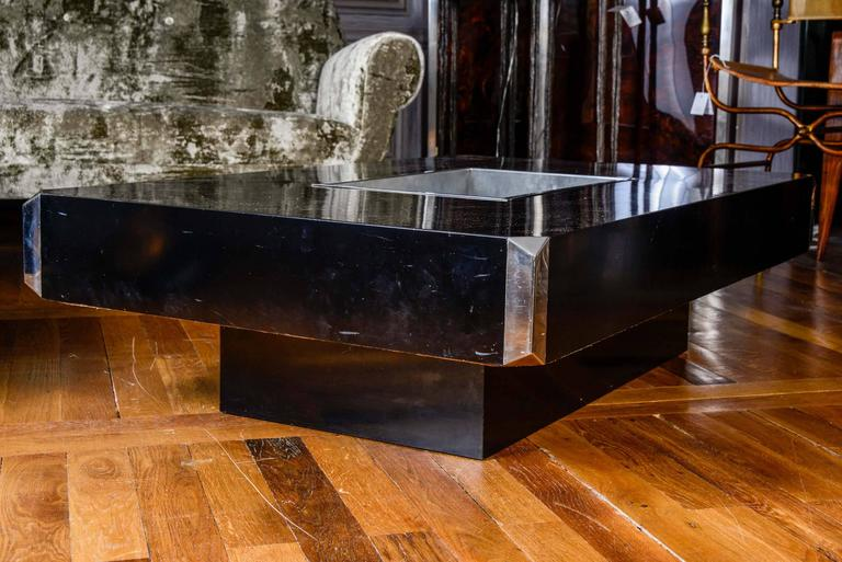 Pair Of Alveo Coffee Tables By Willy Rizzo At 1stdibs