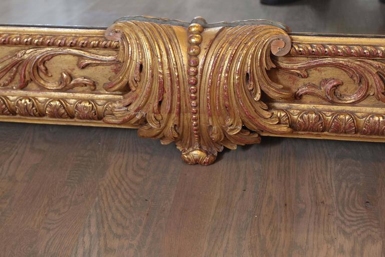 Extra Large Full Length Gold Rococo Dress Mirror For Sale
