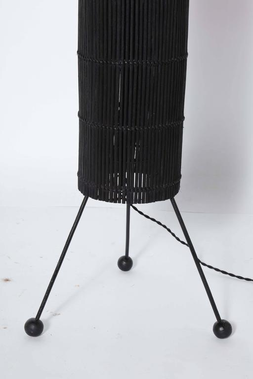 Tony Paul Style California Modern Black Wicker Cylindrical