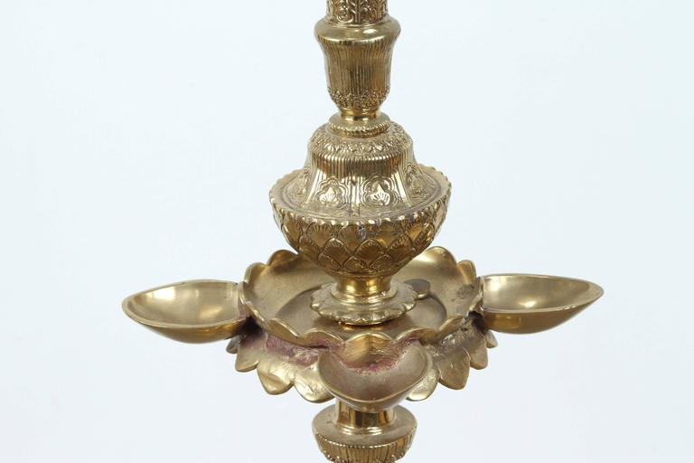 Anglo indian brass floor lamp for sale at 1stdibs for Brass floor lamp india