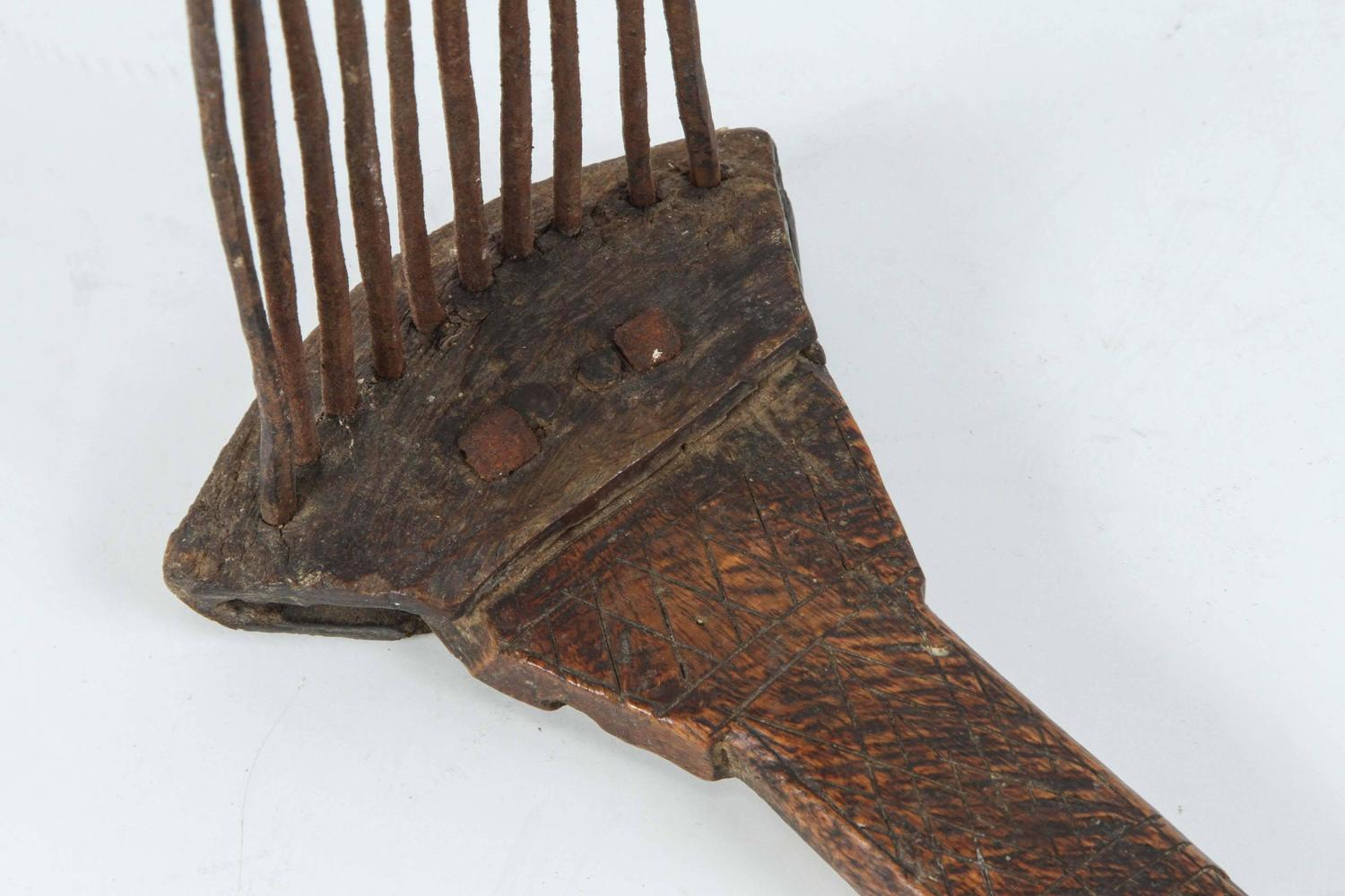 Antique Moroccan Tribal Berber Wool Comb For Sale At 1stdibs