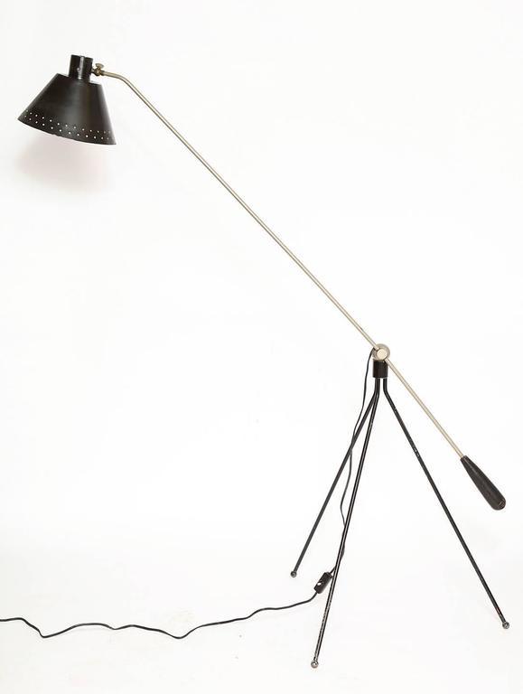 H fillekes for Artiforte Magneto articulated Floor Lamp Denmark 1950's For Sale 2