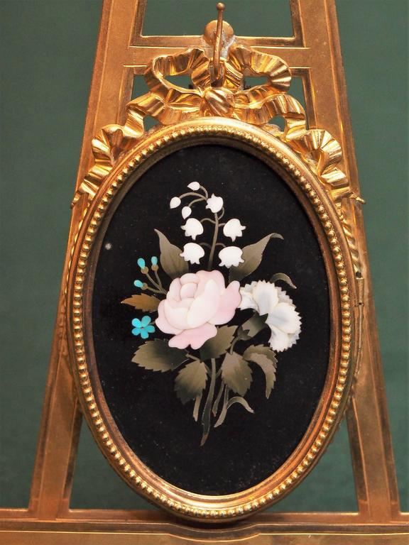Italian Pietra Dura Plaque with Gilt Bronze Frame For Sale at 1stdibs