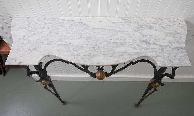 Italian Marble-Top Console Table and Mirror by Palladio For Sale 2