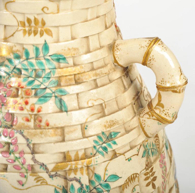 19th Century Pair of Antique Satsuma Vases For Sale
