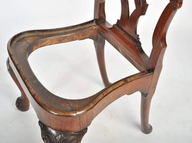 Set of Six George I Red Walnut Chairs For Sale 1