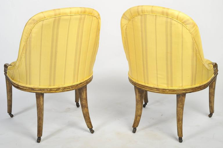 English Pair of Regency Side Chairs For Sale