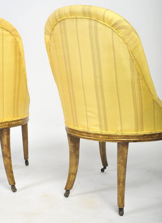 Hand-Painted Pair of Regency Side Chairs For Sale