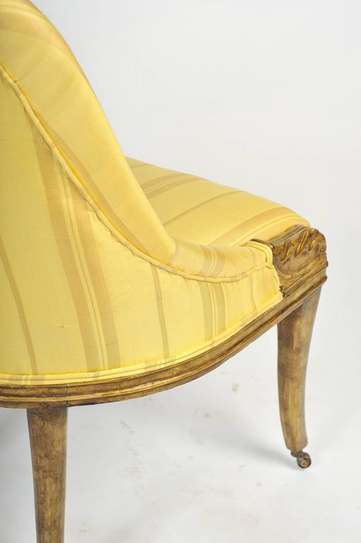 Lacquer Pair of Regency Side Chairs For Sale