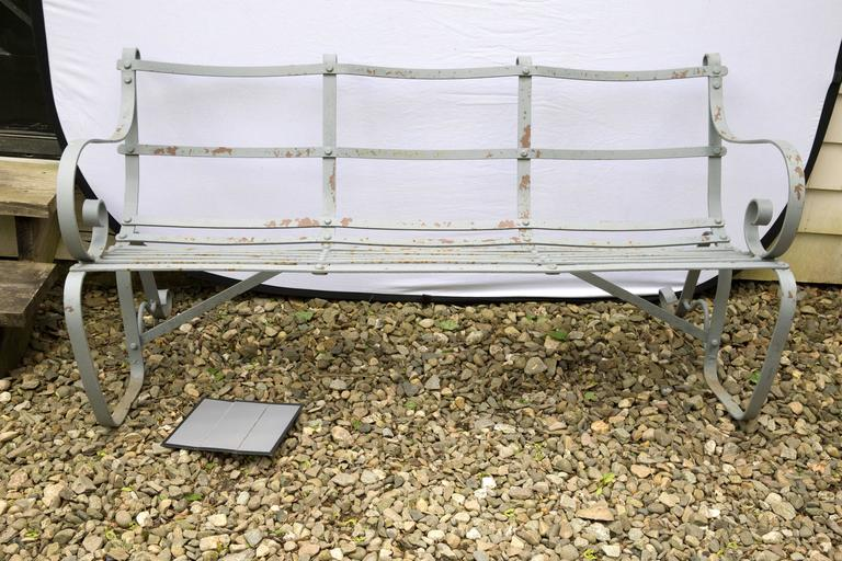A Pair Of Priced Individually Edwardian Period Garden Benches The Wrought Iron