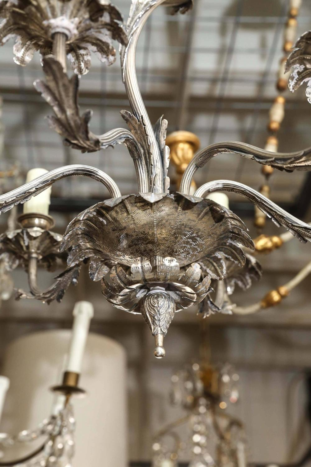 Antique 19th Century Silver Plated Chandelier At 1stdibs