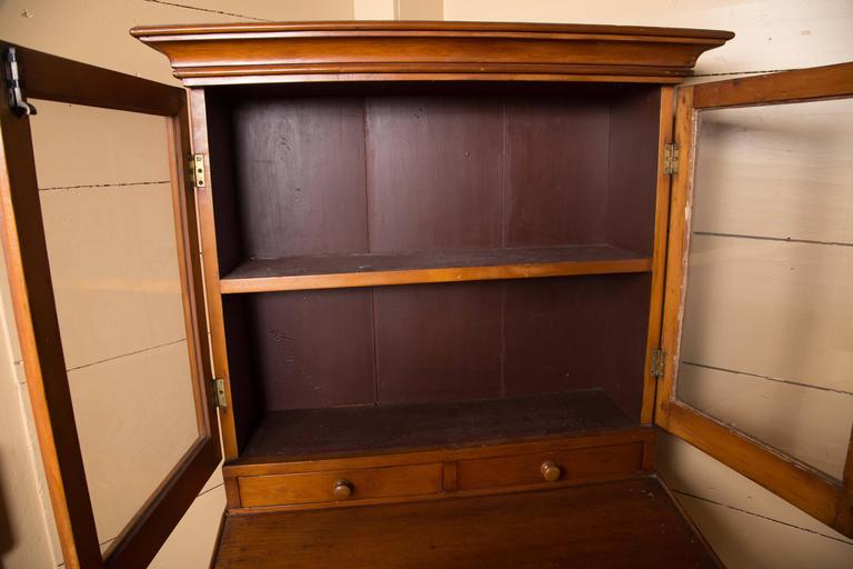 Early 19th Century Country Pine Secretary For Sale 3