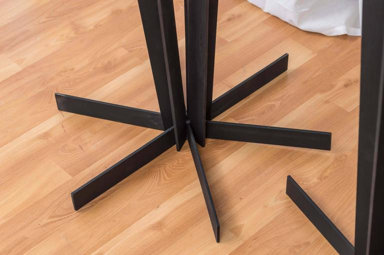 Pair of Sculptural and Tall Wrought Iron Plant Stands In Good Condition For Sale In San Francisco, CA