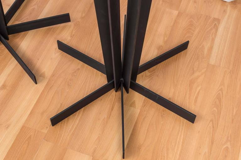 Pair of Sculptural and Tall Wrought Iron Plant Stands For Sale 2