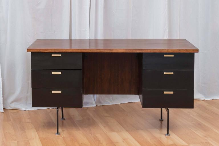 Wonderful A Handsome And Rare Six Drawer Rosewood Executive Desk By Robert John  Furniture In The