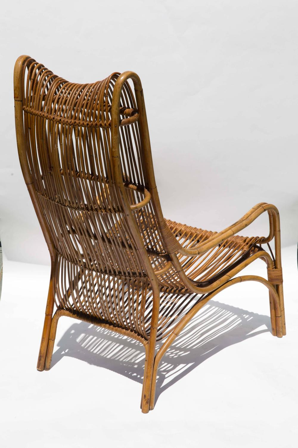 Highback Rattan Armchair For Sale at 1stdibs