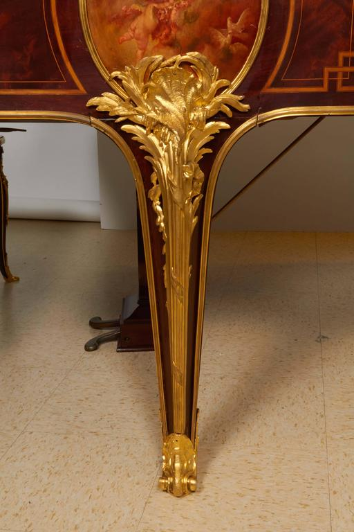 French Ormolu Mounted Kingwood And Vernis Martin Piano By