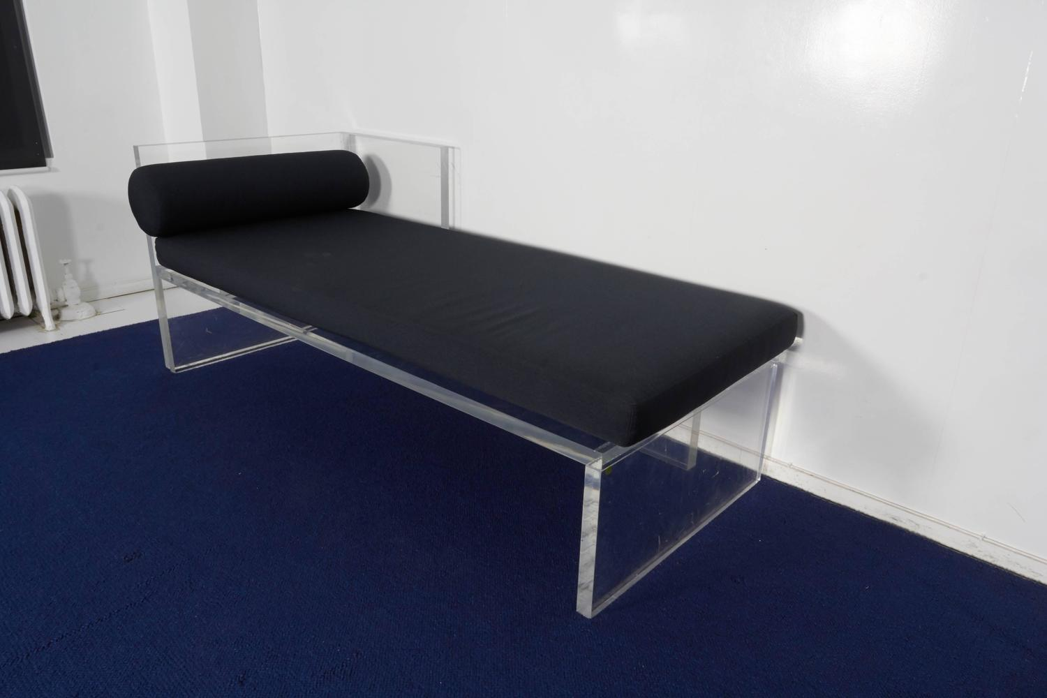 Lucite chaise longue for sale at 1stdibs for Chaise longue for sale