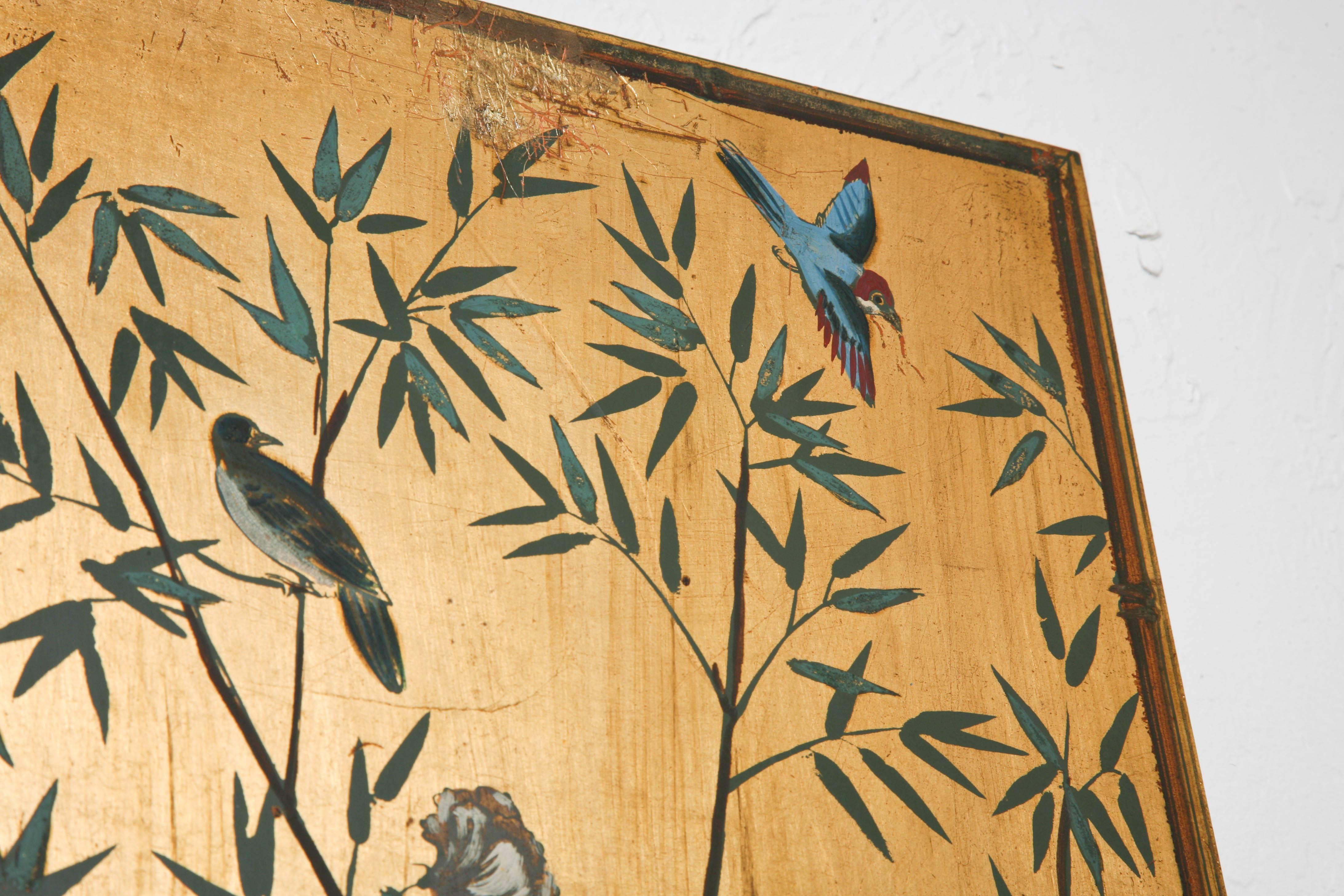 Set of Three Chinoiserie Wood Panels by Palladio at 1stdibs