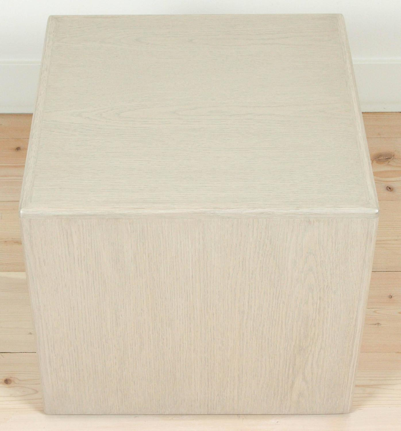 Whitewashed Oak Cube Table By Lawson Fenning For Sale At 1stdibs. Full resolution  portraiture, nominally Width 1396 Height 1500 pixels, portraiture with #886743.