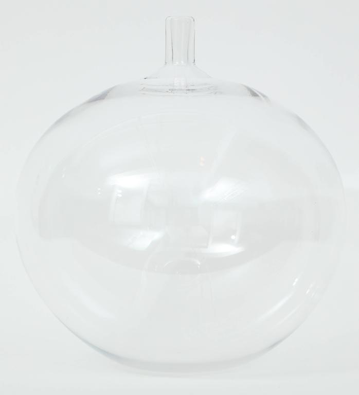 Blown Glass Orrefors Ingeborg Lundin Glass Apple Vase, 1957 For Sale