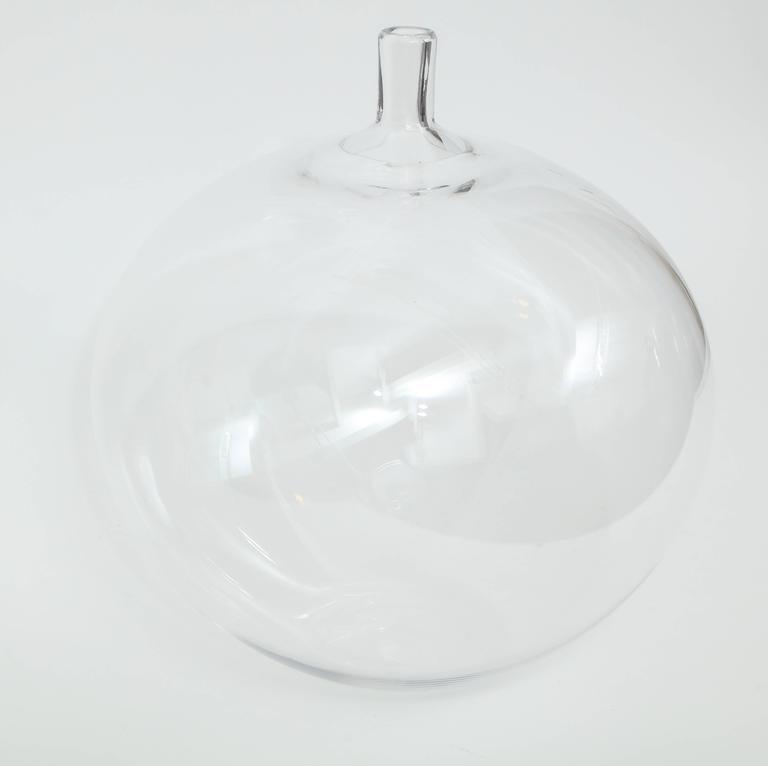 Orrefors Ingeborg Lundin Glass Apple Vase, 1957 For Sale 1