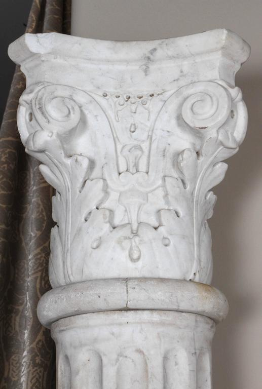 Pair of Early 19th Century Carved Marble Columns For Sale 2