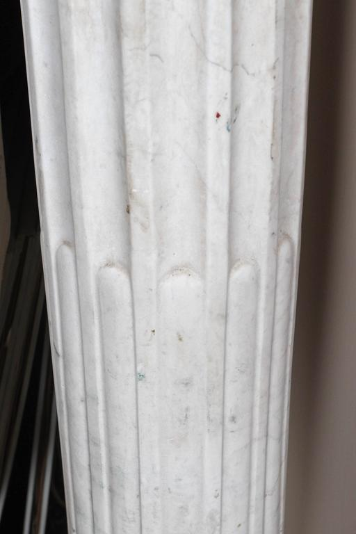 Pair of Early 19th Century Carved Marble Columns For Sale 5