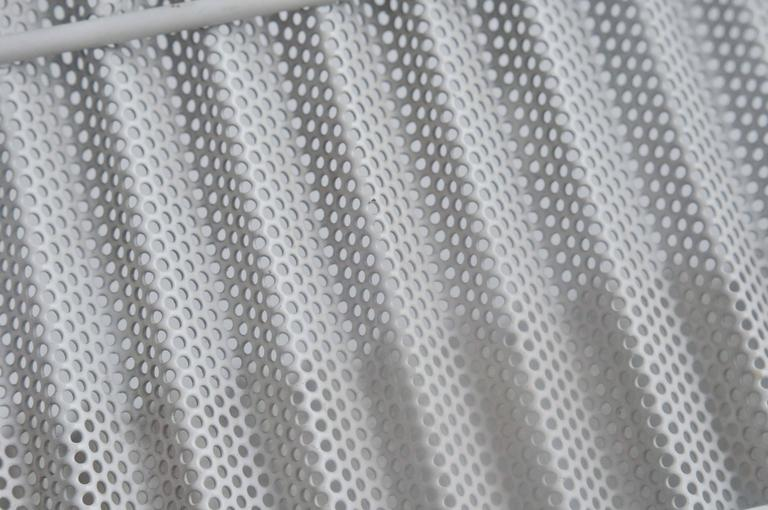 Lacquered Mid-Century, Perforated Metal
