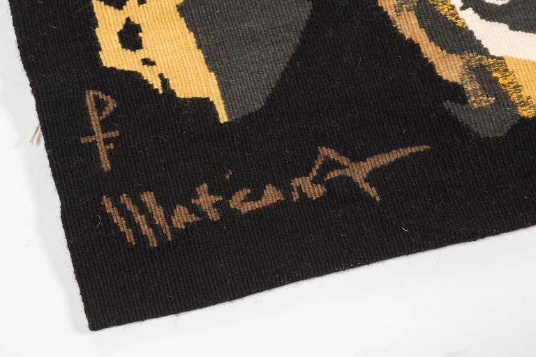 Wool Signed Mathieu Mategot Aubusson Tapestry For Sale