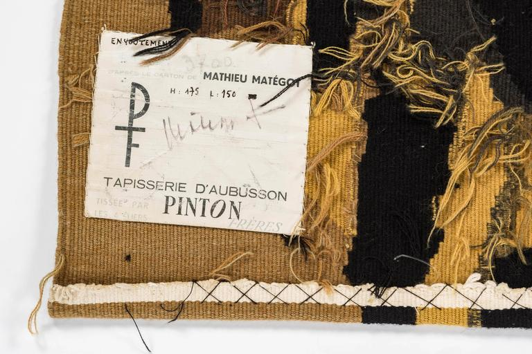 Signed Mathieu Mategot Aubusson Tapestry For Sale 2
