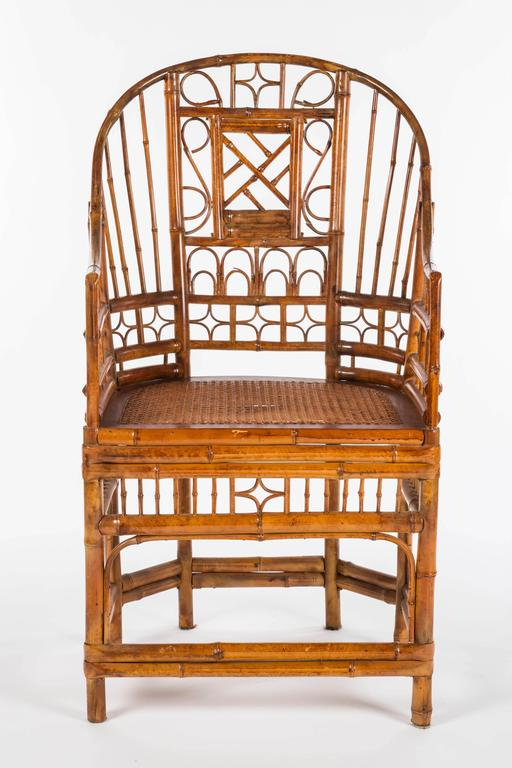 Curved Bamboo Fretwork Chair For Sale At 1stdibs