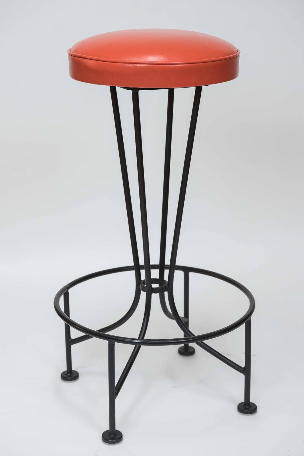 Set Of Four Vintage Quot Atomic Quot Bar Stools Circa 1960s At