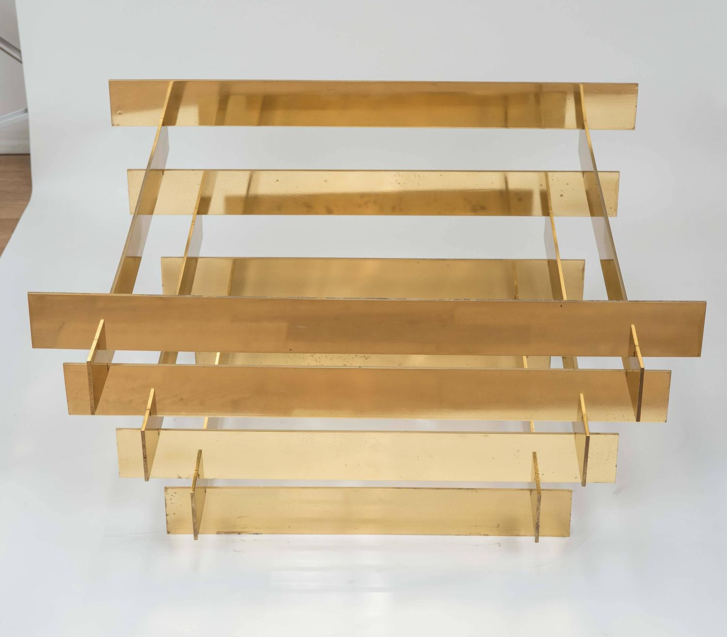 Solid Brass Stacked Coffee Table Base At 1stdibs