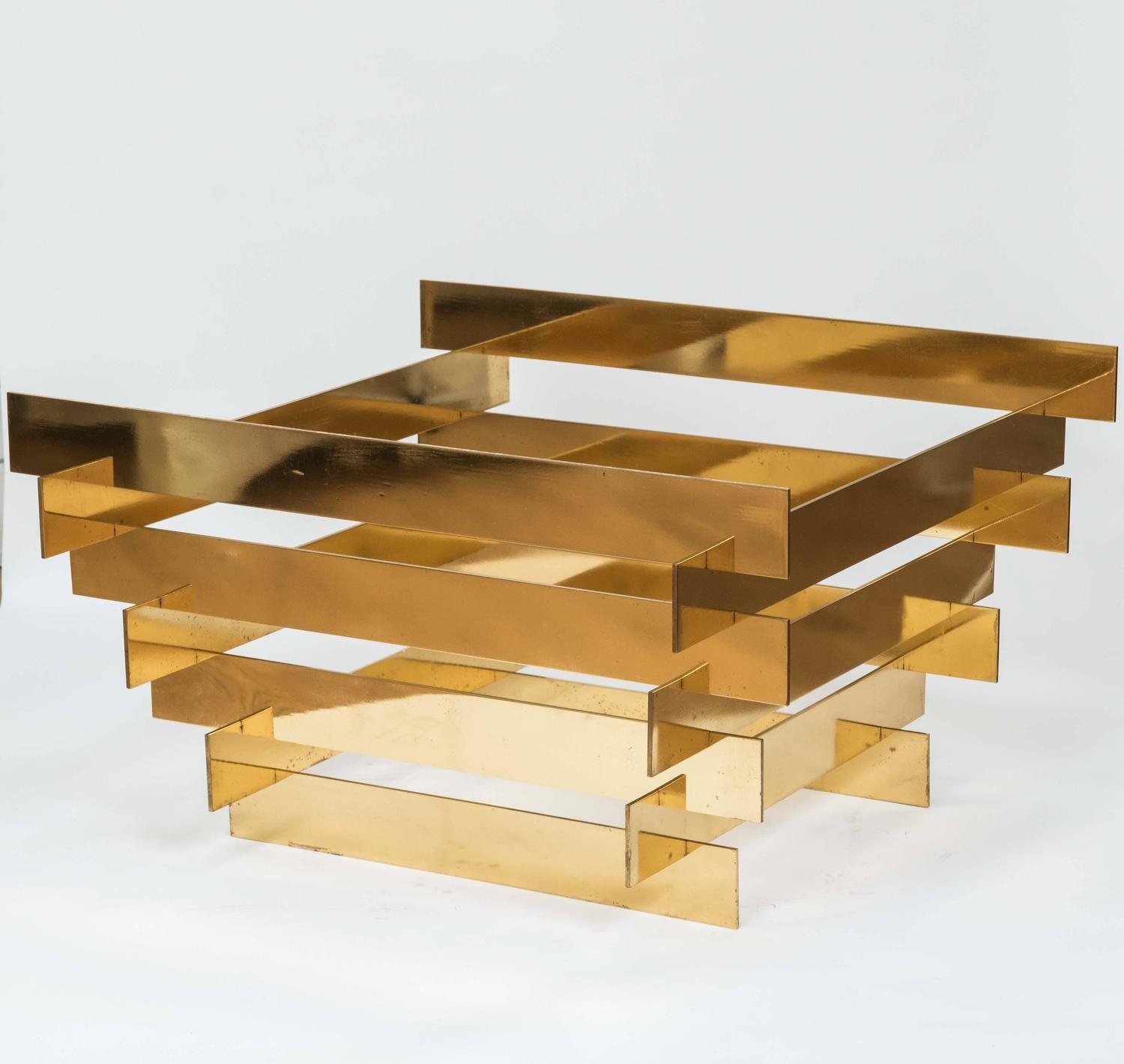 Coffee Table Bases Toronto: Solid Brass Stacked Coffee Table Base At 1stdibs