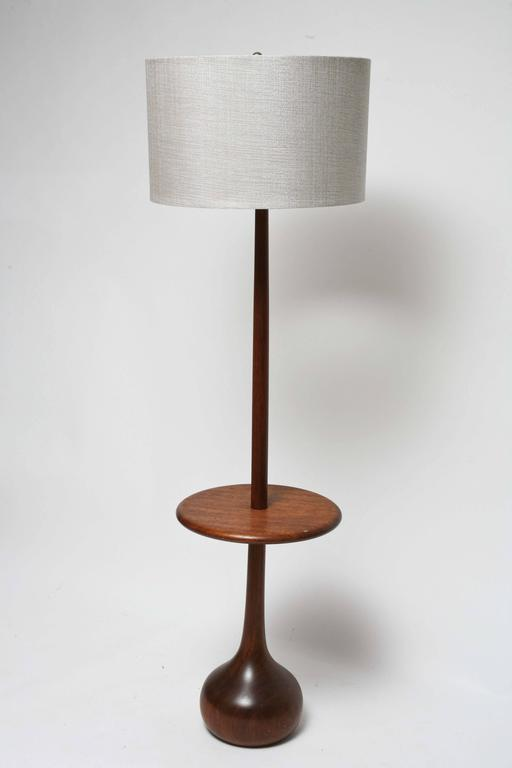 mid century danish modern wood teardrop table floor lamp gordon martz
