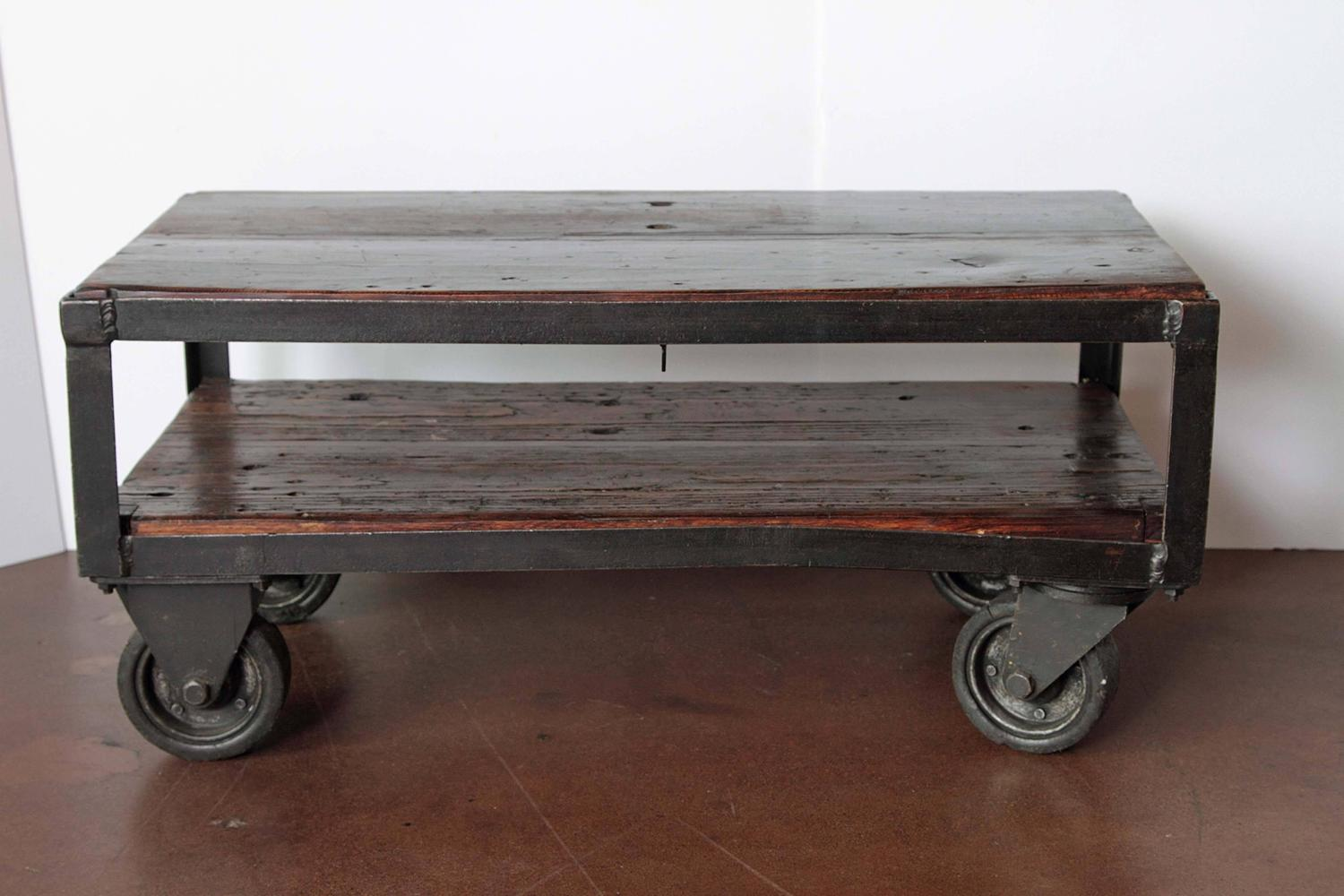 Industrial French Factory Cart Table Circa 1940s For Sale At 1stdibs
