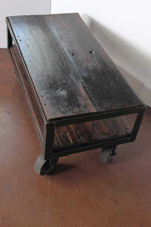 Industrial French Factory Cart Table Circa 1940s At 1stdibs