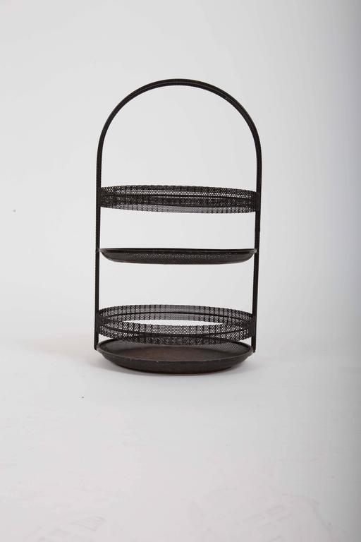 Pierced Metal Centerpiece by Mathieu Matégot For Sale 1