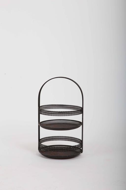 Pierced Metal Centerpiece by Mathieu Matégot For Sale 5