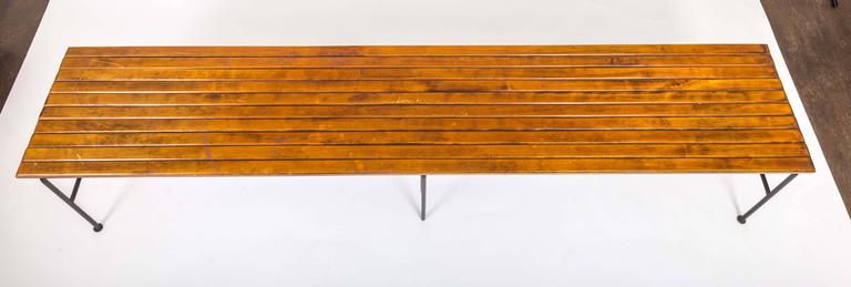 Wooden Slatted Bench by Arthur Umanoff 6
