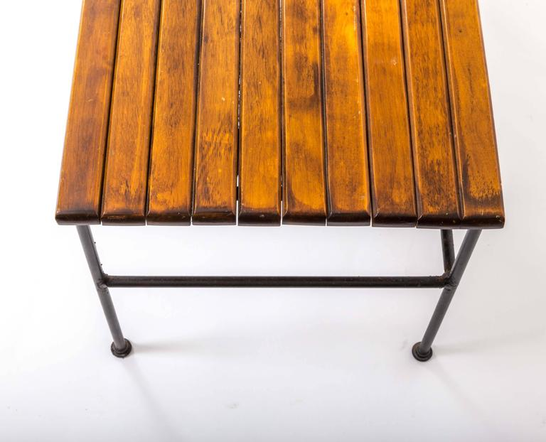 Wooden Slatted Bench by Arthur Umanoff 7