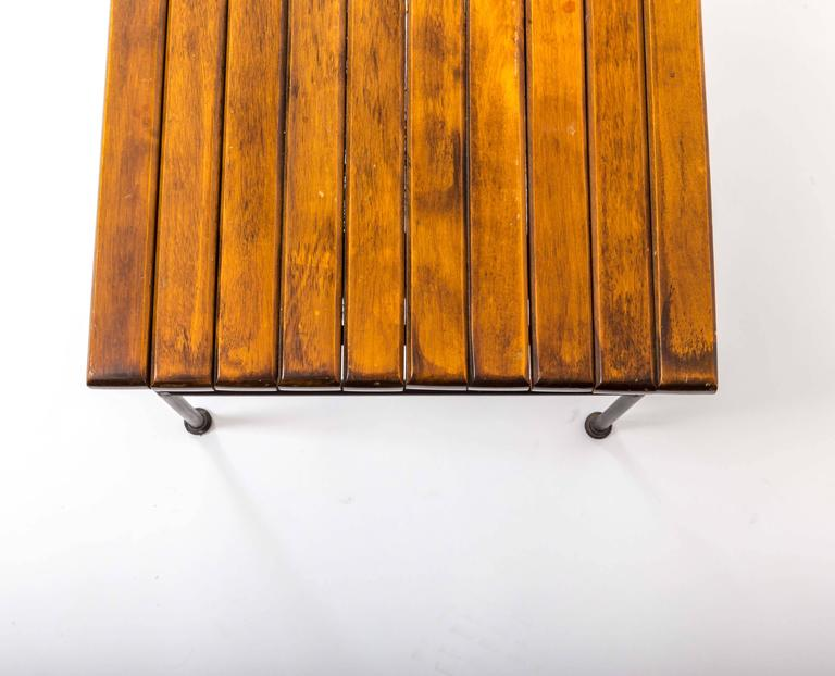 Wooden Slatted Bench by Arthur Umanoff 8